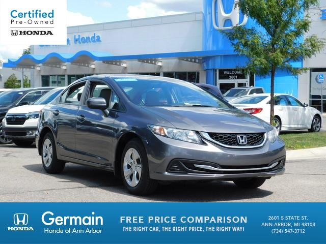 Certified Pre Owned Honda >> Certified Pre Owned 2015 Honda Civic Lx Fwd 4d Sedan