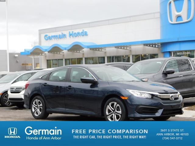new 2018 honda civic lx 4d sedan in ann arbor ha20783 germain